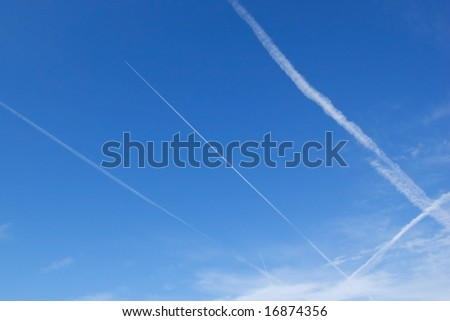 Contrail aviation background