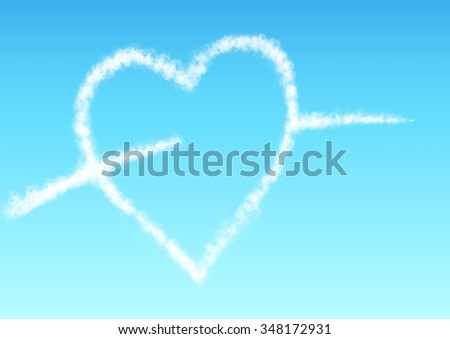 Contrail of heart