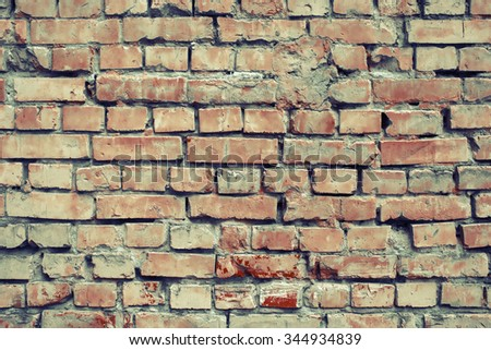 Contrast brick wall texture background. - stock photo