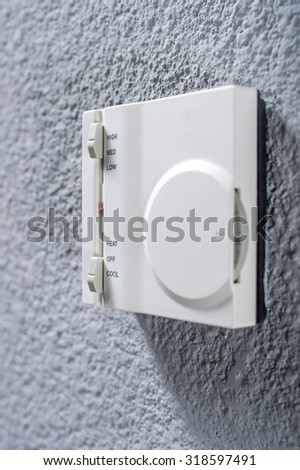 control air-conditioning in the room - stock photo