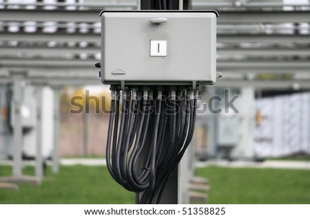 control box - stock photo