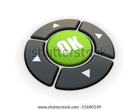 Control buttons - stock photo