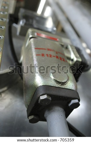control component in industrial factory - stock photo