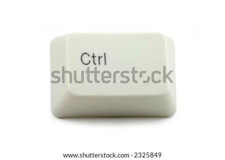 control key with white background