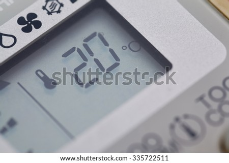 Control of the air temperature at 20 degrees. - stock photo