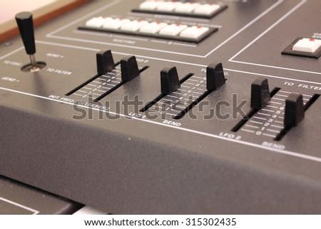 Control panel of electronic piano  - stock photo