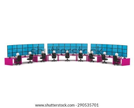 Control room - stock photo