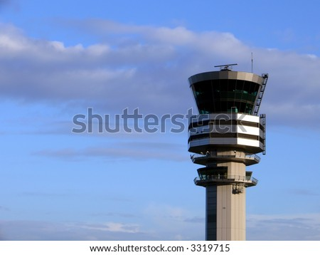 Control tower at Brussels airport,Belgium,Europe