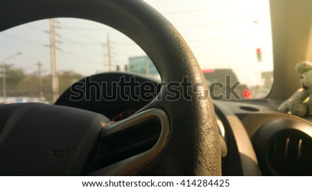 control wheel Active aging . - stock photo