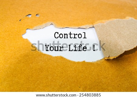 Control your life!  - stock photo