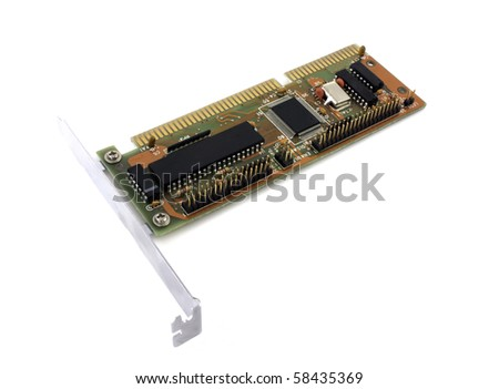 Controller card for computer over white