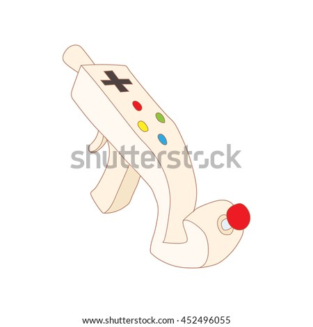 Controller for video games icon in cartoon style isolated on white background. Games and consoles symbol - stock photo