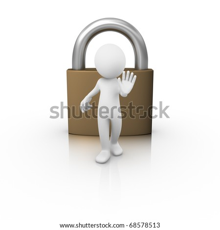 Controlling the access - stock photo