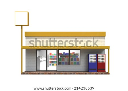 Convenience store - stock photo