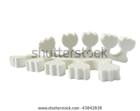 Convenient set for painting of nails standing - stock photo