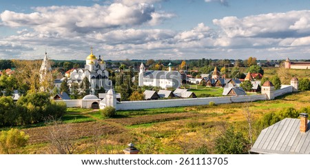 Convent of the Intercession (Pokrovsky monastery) in the ancient town of Suzdal, Russia. Golden Ring of Russia. - stock photo