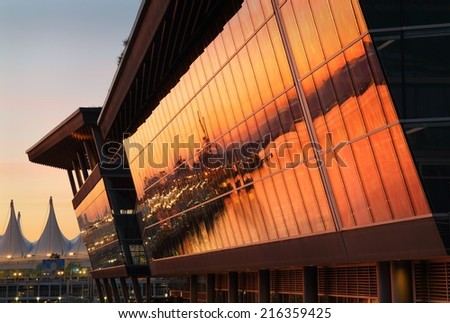 Convention Center Sunrise - stock photo