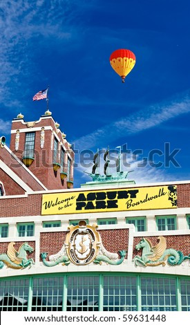 Convention Hall at beach in Asbury Park NJ. - stock photo