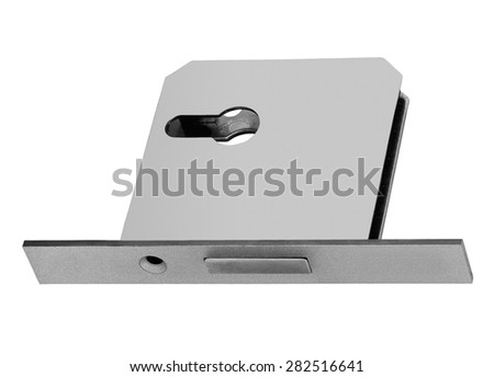 conventional mortise lock for door - stock photo