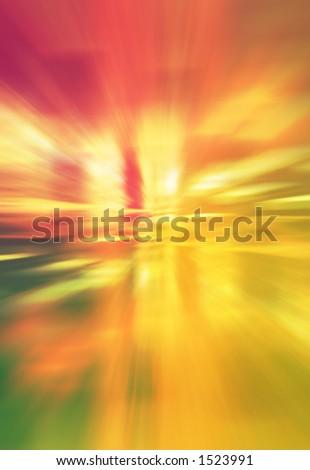 convergence of coloured light - stock photo