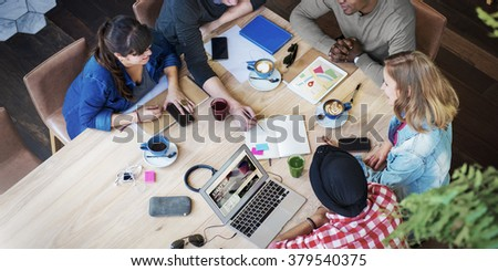 Conversation Connection Business Casual Office Concept - stock photo