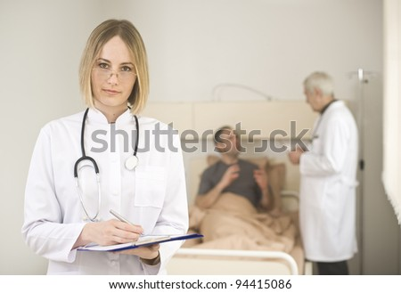 Conversation in the hospital between doctor and patient