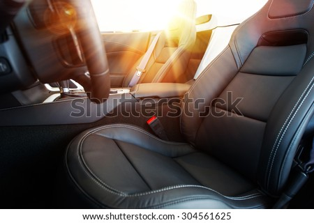 Convertible Car Drive Concept. Sun and Wind Summer Drive. Cabrio Vehicle. - stock photo