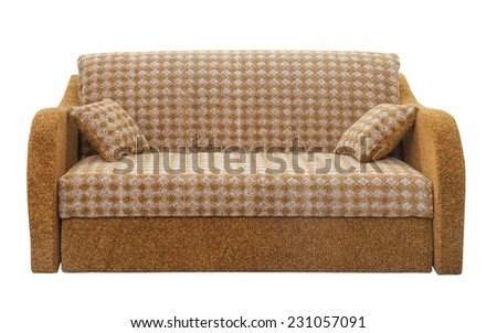 Convertible sofa on a white background - stock photo