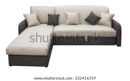 Convertible sofa on a white background