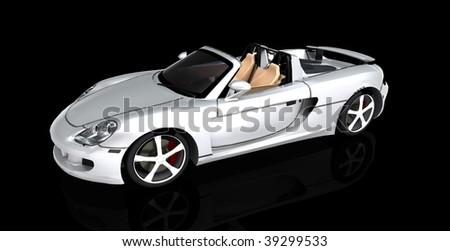 convertible sports car - stock photo