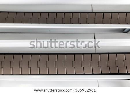 conveyer belt close up - stock photo