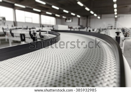 conveyer belt close up