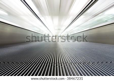 conveyor belt at airport - stock photo