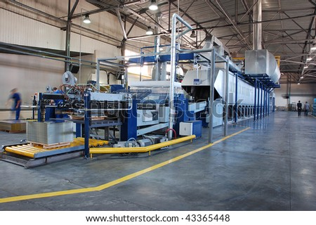 conveyor line, making bottle cap - stock photo