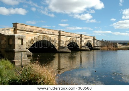 Convict-built bridge, Ross, Tasmania, Australia