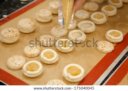 cook dessert - stock photo