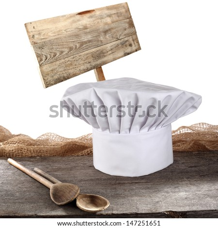 cook hat and banner