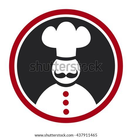 Cook icon - stock photo
