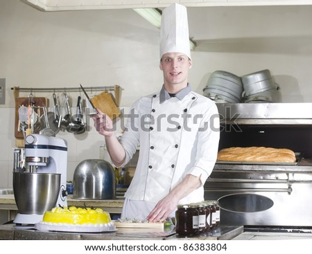 Cook in a kitchen