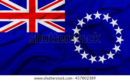 Cook Islands flag - stock photo