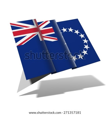 Cook Islands flag 3D banner - stock photo