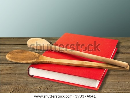 Cookbook. - stock photo