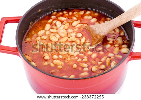 Cooked Bean Close-up - stock photo