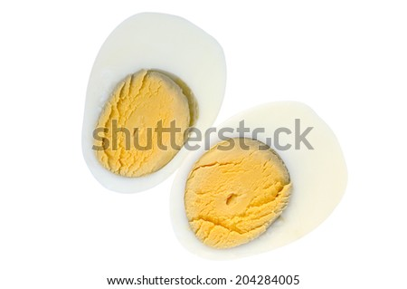 Cooked egg isolated on white background - stock photo