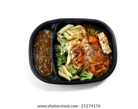 Cooked instant Dinner - stock photo