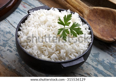 cooked rice - stock photo