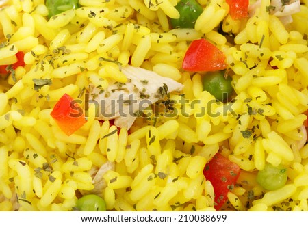 cooked rice as background texture - stock photo
