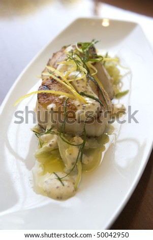 Cooked Sea Bass - stock photo