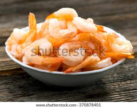Cooked shrimps  - stock photo