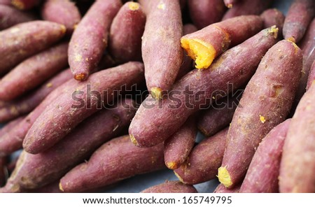 Cooked yams or sweet potatoes - stock photo